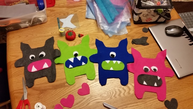 Monster Fairies Ready to Sew