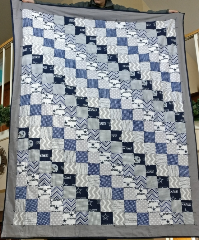 Finished Cowboys Quilt